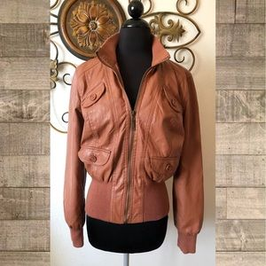 Charlotte Russe Faux Leather Jacket Large